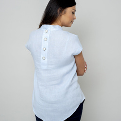 Women's blouse in light blue color 10845, Willsoor