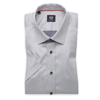 London shirt in grey with contrast buttons (height 176-182) 10848, Willsoor