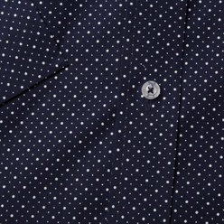 Classic shirt in dark blue with a pattern (height 176-182) 10861, Willsoor