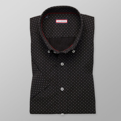 Slim Fit shirt in black with a pattern (height 176-182) 10862, Willsoor