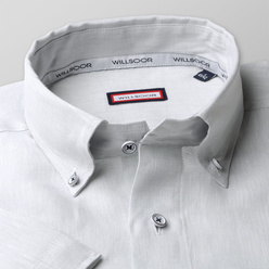 Slim Fit shirt in light grey color (height 176-182) 10868, Willsoor