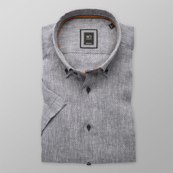 London shirt in grey with fine pattern (height 176-182) 10870, Willsoor
