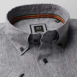 London shirt in grey with fine pattern (height 176-182) 10871, Willsoor