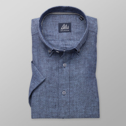 London shirt in blue with fine pattern  (height 176-182) 10872, Willsoor