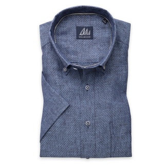 London shirt in blue with fine pattern (height 176-182) 10873, Willsoor
