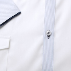 Classic shirt in white with blue elements (height 176-182) 10875, Willsoor
