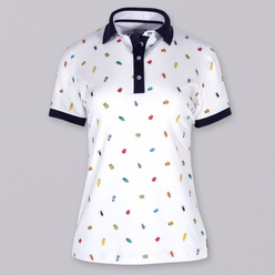 Women's polo t-shirt with beetles print10882, Willsoor