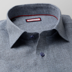 Classic natural linen shirt in grey (height 176-182) 10885, Willsoor