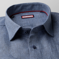 Slim Fit natural linen shirt in blue (height 176-182) 10886, Willsoor