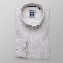 Slim Fit shirt in beige-grey (height 176-182) 10891, Willsoor