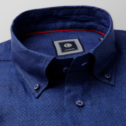 Slim Fit shirt in blue color (height 176-182) 10893, Willsoor