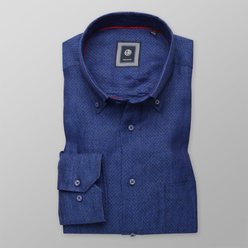 Classic shirt in blue color (height 176-182) 10894, Willsoor