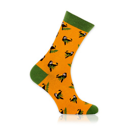 Men's socks with toucans print 10897