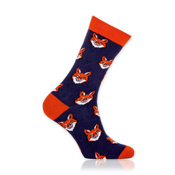 Men's socks with foxes print 10899