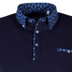 Men's polo shirt in dark blue color 10901, Willsoor