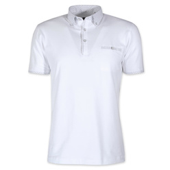 Men's polo shirt in white color 10902, Willsoor
