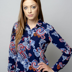 Women's blouse with colorfull paisley pattern  10903, Willsoor