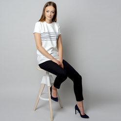 Women's t-shirt with striped print 10907, Willsoor