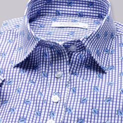 Women's blouse with fine check pattern 10916