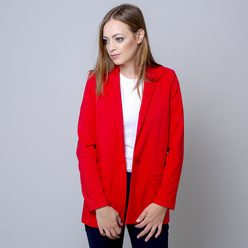 Oversize women's suit jacket in raspberry 10921, Willsoor