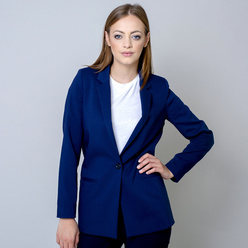 Oversize women's suit jacket in dark blue 10922, Willsoor