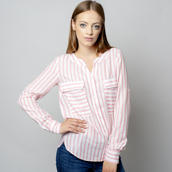 Women's blouse with pink striped pattern 10932