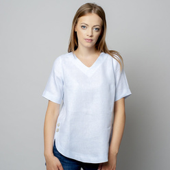 Women's blouse in pale blue color 10934, Willsoor