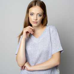 Women's blouse in grey color 10935, Willsoor
