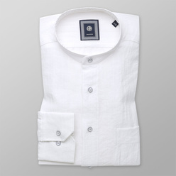 Slim fit shirt with linen addition (height 176-182) 10944, Willsoor