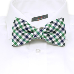 Men's pre-tied bow tie with checked pattern 10962, Willsoor