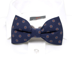Men's pre-tied bow tie with brown dots 10963, Willsoor