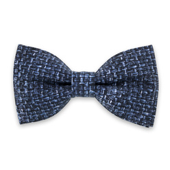 Men's pre-tied bow tie with blue pattern 10965