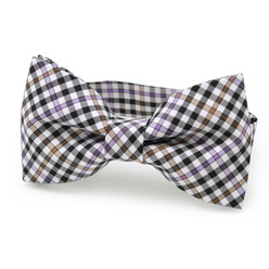 Men's pre-tied bow tie with check pattern 10966, Willsoor