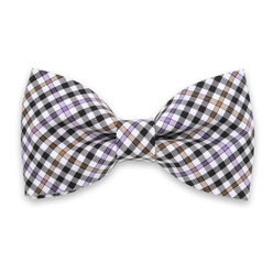 Men's pre-tied bow tie with check pattern 10966