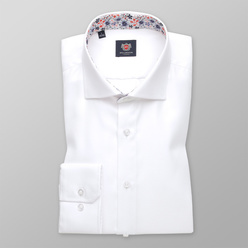 London shirt in white with fine pattern (height 176-182) 11000