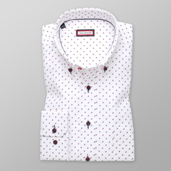 Classic shirt with claret pattern (height 176-182 and 188-194) 11007