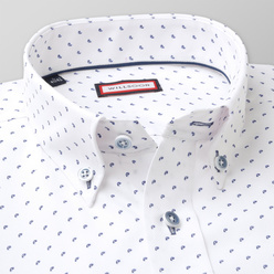 Classic shirt with dark blue pattern (height 176-182 and 188-194) 11009