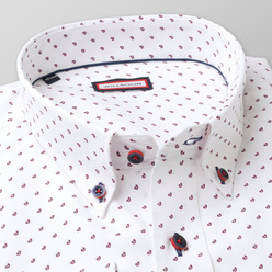 Classic shirt with fine claret pattern (height 188-194) 11011, Willsoor