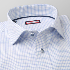 Slim Fit shirt with light blue pattern (height 176-182) 11022, Willsoor
