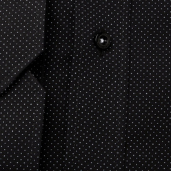 Slim Fit shirt in black with fine pattern (height 176-182) 11025, Willsoor