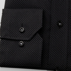 Classic shirt in black with fine pattern (height 176-182) 11026, Willsoor