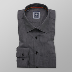 Slim Fit shirt with dark grey pattern (height 176-182) 11033