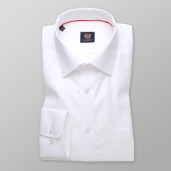 London shirt in white with fine pattern (height 198-204) 11041, Willsoor