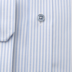 Slim Fit shirt with light blue striped pattern (height 176-182) 11043, Willsoor