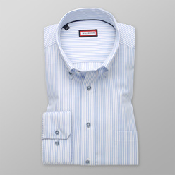 Classic shirt with light blue striped pattern (height 176-182) 11044, Willsoor