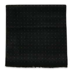 Black scarf with dotted pattern 11048