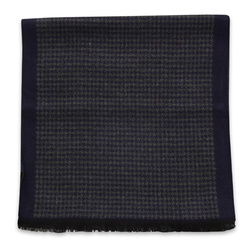 Scarf with dark blue check pattern 11051, Willsoor