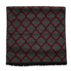 Scarf with claret oriental pattern 11056, Willsoor