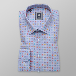 Classic shirt with colorful floral pattern (height 176-182) 11058, Willsoor