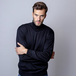 Men's turtleneck jumper in black 11066, Willsoor